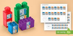 The maths activity / activities using building bricks to develop number and fine motor skills in EYFS children. Continuous Provision, Number Sequence, Number Recognition, Helping Children, Eyfs, Fine Motor Skills, Math Activities, Bricks, Numbers