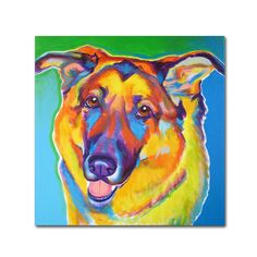 Thomas by DawgArt Painting Print Gallery Wrapped on Canvas