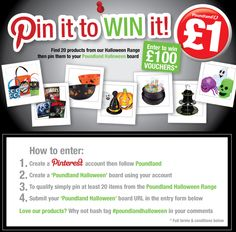 Pin it to win it - Halloween Halloween 2013, Halloween Goodies, Halloween Items, Halloween Treats, Projects To Try, Pinterest Account, Board, Competition, Fill