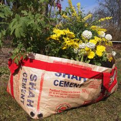 tulsicrafts | plantbag made of recycled cement sacks | medium