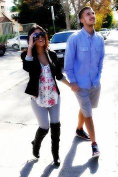 Kourtney Kardashian and Rob Kardashian...