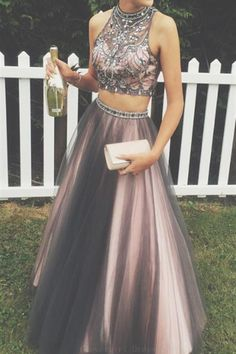 Two-Piece High Neck Floor-Length Rhinestone Grey Prom Dress with Beading, Prom Dresses, 2017 Prom Dresses, Long prom Dresses. , Prom Dress For curvy girls. Grey Prom Dress, Prom Dresses Two Piece, Prom Dresses For Teens, Prom Dresses 2017, Beaded Prom Dress, A Line Prom Dresses, Prom Party Dresses, Sexy Dresses, Evening Dresses