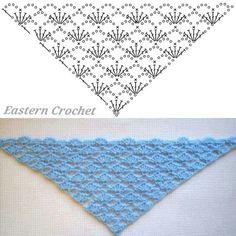 Crochet Collar Pattern, Crochet Shawl Diagram, Crochet Stitches Patterns, Crochet Chart, Crochet Designs, Knitting Patterns, Crochet Shawls And Wraps, Crochet Scarves, Crochet Clothes