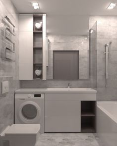Modern Laundry Rooms, Laundry Room Bathroom, Laundry Room Design, Home Room Design, Bathroom Layout, Modern Bathroom, Home Interior Design, Master Bathroom, Bathroom Design Luxury