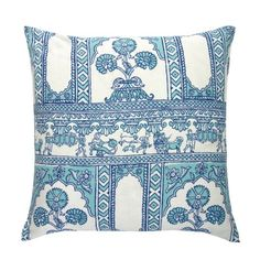 Blue Sultan Pillow | Janet Kain for the Home