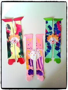 clowns acrobates, cirque, carnaval, bricolage enfant