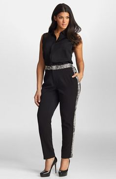 Mynt 1792 Print Tuxedo Pants (Plus Size) available at #Nordstrom