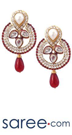FANCY MAROON EARRING  #Jewelry #accessories #Earrings #Earringsoftheday #necklace #necklaceoftheday #necklaceset #jewelleryset #jewellerydesign #jewelleryonline #buyonline #jewellery