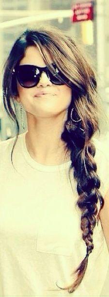 Selena Gomez messy side braid.......it's so pretty!