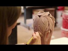 Becky Hansen Glazing The Fuchsia Vase