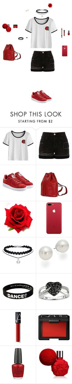 """""""Untitled #82"""" by mayashmila ❤ liked on Polyvore featuring River Island, adidas Originals, Gucci, AK Anne Klein, Peace Love World, Ice, NARS Cosmetics, OPI and Buxom"""