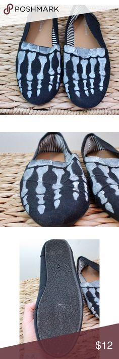 Hand painted bone flats I paint shoes its my thing. Toms like bit not Toms Shoes Flats & Loafers