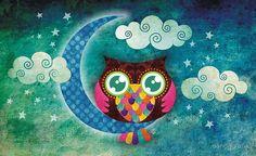 """Meu Crescente Owl"" por sandygrafik | RedBubble"