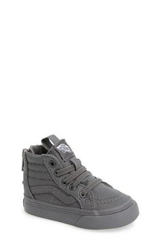 Free shipping and returns on Vans 'Sk8 - Hi' Zip Sneaker (Baby, Walker, Toddler, Little Kid & Big Kid) at Nordstrom.com. A signature tonal stripe styles a favorite old-school sneaker featuring a back-zip closure for easy on and off.