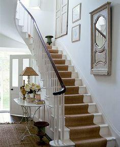 Sisalmatta i hall och trappa  Hall/entrance  Pinterest