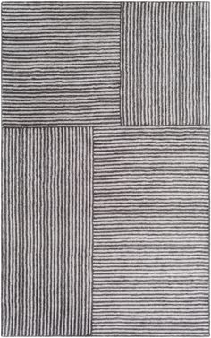 The simplistic yet compelling rugs from the Quartz Collection effortlessly serve as the exemplar representation of modern decor. With their hand tufted construction, these rugs offer an affordable alternative to other handmade constructions while perserving the same natural demeanor and charm. Made with Viscose in India, and has Low Pile. Spot Clean Only, One Year Limited Warranty.Pile Height: 0.25 Contemporary Area Rugs, Modern Area Rugs, Moroccan Area Rug, Burke Decor, Hand Tufted Rugs, Black Rug, Accent Rugs, Grey Rugs, Black Stripes