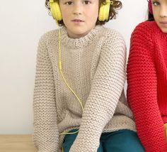 Voici des modèles de pulls à tricoter rapidement ! Modèles tricotés en PHIL MATELOT.