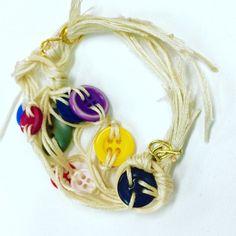 Blanche's Button Bracelet by greeneyesgeisha on Etsy