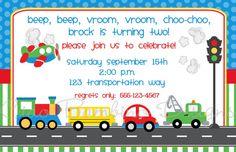 Invitations  Cars Trucks Trains School Bus Airplane by ciaobambino, $24.00