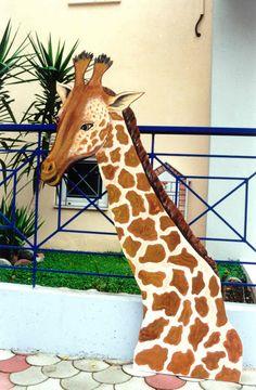 ΖΩΓΡΑΦΙΚΗ ΓΙΑΝΝΗΣ ΓΕΩΡΓΙΑΔΗΣ: ΖΩΓΡΑΦΙΚΗ ΖΩΩΝ Giraffe, Painting, Animals, Felt Giraffe, Animales, Animaux, Painting Art, Giraffes, Paintings