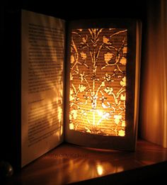 Book Paper Art Sculpture  Altered Book  Burn me by MalenaValcarcel,