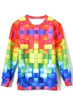 Dazzling Colorful Cube Sweatshirt