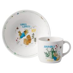 Pottery & Glass Pottery Bright Wedgwood Peter Rabbit Christening Set Bowl/cup/plate/money Box