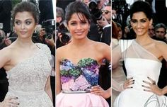Hotties who are back on Cannes red carpet     Indian actresses Aishwarya Rai, Sonam Kapoor and Freida Pinto will walk the red carpet at the forthcoming Cannes International Film Festival on different occasions. They will sport looks inspired by Bollywood's different eras. Actress Aishwarya Rai, Bollywood Actress, Freida Pinto, Sonam Kapoor, International Film Festival, Cannes Film Festival, Indian Beauty, Indian Actresses, Red Carpet