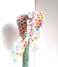 Baby bonnet sz 6-12mo baby girl bonnet polka dot by saraannas