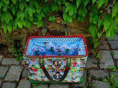 Carpet Bag Reisetasche von machwerk Carpet Bag, Lunch Box, Lobster Clasp, Bags, Travel Bags, Workshop, Bento Box