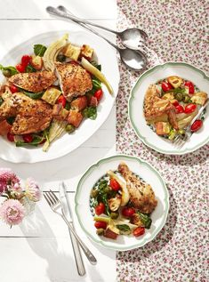 roasted chicken with fennel and tomatoes