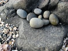 Smooth stones at the beach - my favorite things!  from Art Propelled