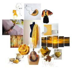 """""""A Golden Day"""" by inspiredbyten ❤ liked on Polyvore featuring Ready2hangart, etsy, gifts, polyvorefashion and Fall2016"""
