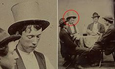 The previously unseen black and white image from 1877 shows the American outlaw playing cards with three members of his gang - Richard Brewer, Fred Waite and Henry Brown. Tudor History, Us History, British History, History Facts, American History, Historical Women, Historical Photos, Bill The Kid, Billy Kid