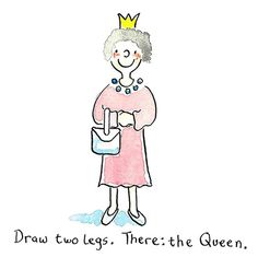 Easy Things to Draw When You Are Bored - Draw the Queen - Quick and Cool Drawing Lessons for Fun Art - How to Draw Basic Things, Cartoons, Animals, Flowers, People Leaf Drawing, Gesture Drawing, Drawing Skills, Drawing Lessons, Baby Pokemon, Bart Simpson, Chibi Kawaii, Cute Chibi, Winnie The Pooh