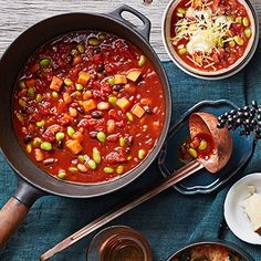Sweet Potato Chili #comfortfood #recipes