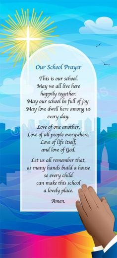 Our School Prayer - artwork by Rachey Mabey #Banners #Boards various sizes from £99.00 + VAT