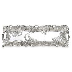 Perfect housewarming gift for someone I know! Arthur Court Designs Butterfly 18 1/2-Inch Oblong Tray