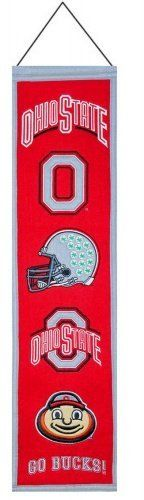 Ohio State Buckeyes Heritage Banner by PalmBeachAutographs.com. $35.00. Every team has its own look, its own visual identity, and that often evolves over the years. Pay tribute to your favorite squad's unique logo with this Ohio State Heritage Banner from Winning Streak™. It boasts a wool construction, includes a hanging cord, and depicts the many versions of the club's emblem.