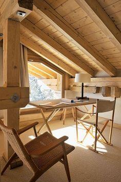 St Moritz  Home office, Attic, Wood.