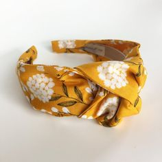 Excited to share the latest addition to my shop: Headbands for women knotted mustard yellow top knot Womens Headbands Gift for her cute retro ladies rosie dolly Hairband turban Adult fall Boho Headband, Twist Headband, Turban Headbands, Knot Headband, Headband Hairstyles, Fabric Headbands, Handmade Headbands, Headbands For Women, Headbands For Short Hair