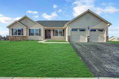 Monterey - Fine Line Homes Custom Home Builders, Custom Homes, Flex Room, Ranch House Plans, Bedroom House Plans, Car Garage, Building Design, Pennsylvania, Closets
