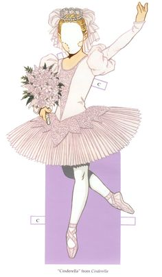 """""""Ballet Princesses Paper Doll"""" by Tom Tierney; Dover Publications (6 of 8)"""