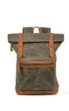 4a93bf1bcbd3 Large Capacity Canvas Leather Backpack