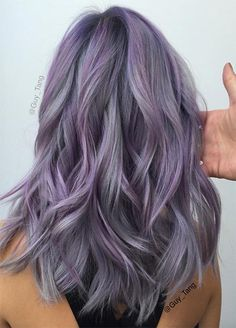 50 Lovely Purple -Lavender Hair Colors in Balayage and Ombre // #Balayage #Colors #Hair #lavender #lovely #Ombre #purple