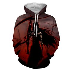 Bleach Ichigo Getsuga Moon Fang Skill Anime Art Hoodie sold by KONOHA STUFF. Shop more products from KONOHA STUFF on Storenvy, the home of independent small businesses all over the world. Bleach Hoodie, Cool Hoodies, Anime Hoodies, Otaku, Anime Merchandise, Anime Costumes, T Shirt And Shorts, Cool Outfits, Amazing Outfits