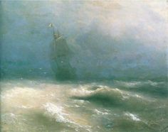 Буря у берегов Ниццы - 1885 год