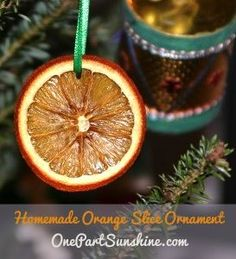 Homemade Orange Slice Ornament for a Green Christmas | OnePartSunshine.com  And other great natural ideas