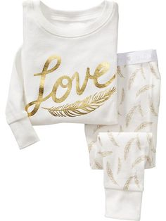 """Love"" Sleep Sets for Baby"