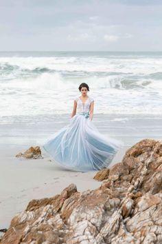 I'll Meet You Down By The Ocean: A Stunning Bridal Editorial! Editorial, Romantic Beach, Bridal Shoot, Industrial Wedding, Wedding Trends, Dream Dress, Couple Photography, Mermaid Wedding, Engagement Photos